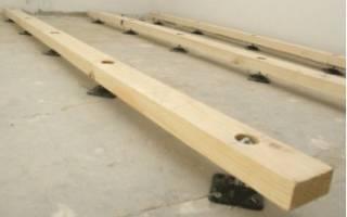 Как постелить лаги на бетонный пол