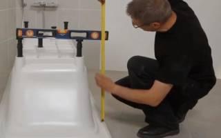 Оптимальная высота ванны от пола