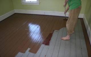 Чем помыть пол после покраски краской