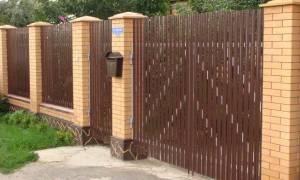 Забор из металлоштакетника своими руками