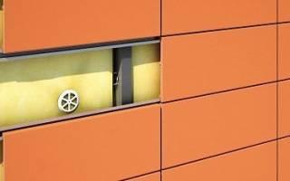 Схема монтажа вентилируемого фасада