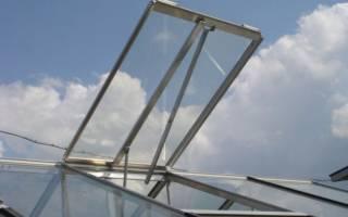 Механизм открывания окон в теплице